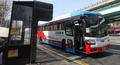 열화상카메라 미설치된 중간 정류소에 정차하는 버스