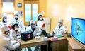 위생 선전 준비하는 보통강구역인민병원