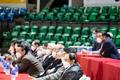 FIBA 아시아컵 예선 무관중 경기 속 마스크 쓴 대회 관계자들