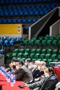 농구 아시아컵 예선 '관중은 없고 마스크 쓴 관계자들만'