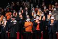마스크 쓴 국민의당 창당대회