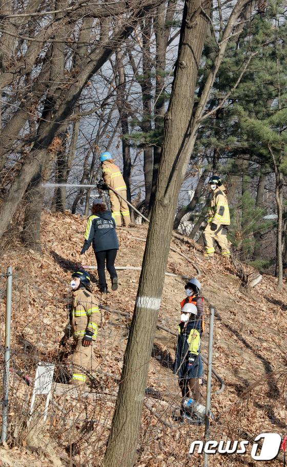 인천 연경산 화재 확산