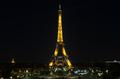 의료진 등에 감사 메세지 전하는 에펠탑