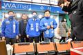 인천 옥련시장 찾은 이인영 원내대표와 박찬대·홍영표 후보