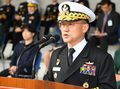 취임사 하는 부석종 신임 해군참모총장