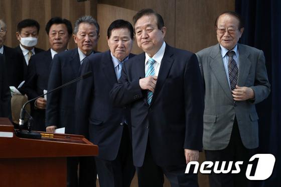 민주당 복귀 선언한 동교동계 정치 원로들