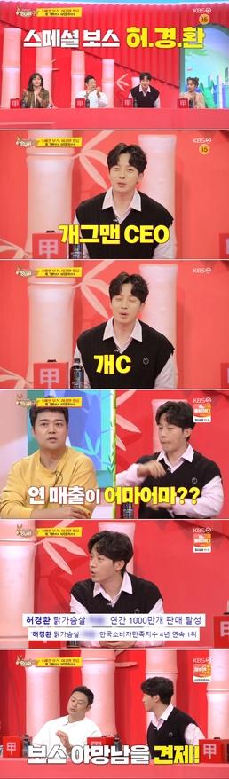 """[단독] '개그맨+CEO' 허경환 """"180억원 매출 관심, 부담도 되지만..."""
