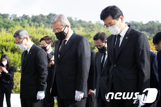 김종인 미래통합당 비대위원장, 현충원 참배