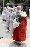 스님들의 故 박원순 서울시장 조문행렬