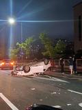 광주서 차량 전복사고…1명 부상