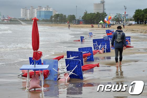 코로나19·장마 여파 해수욕장 이용객 급감