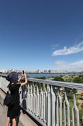비구름 물러간 맑고 푸른 서울하늘