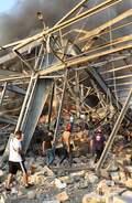 [사진] 레바논 폭발사고에 형체도 없이 파손된 건물