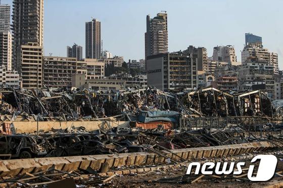 [사진] 폭발사고에 폐허로 변한 베이루트항
