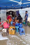 침수피해 복구 분주한 농민들