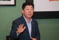 발언하는 박재호 민주당 부산시당위원장