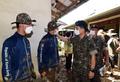 폭우 대민지원 현장 장병들 격려하는 서욱 육군참모총장