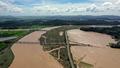 영산강 죽산보와 인근의 침수된 농경지