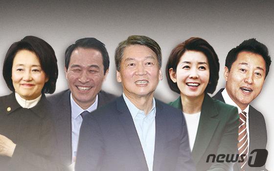 안철수 43.5 % vs. 박영선 40.6 % '클로즈업'… 나와 오 상대성 박지성
