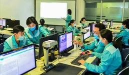북한 과학기술전당 전자열람실…