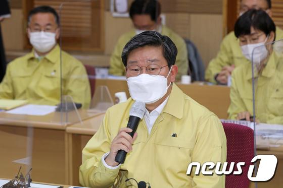 전해철 행안부 장관 '호남권 예방접종센터 점검'