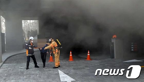 마포 호텔 화재, 구조되는 시민