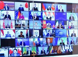 화상 기후정상회의 참석한 한·중·일 정상