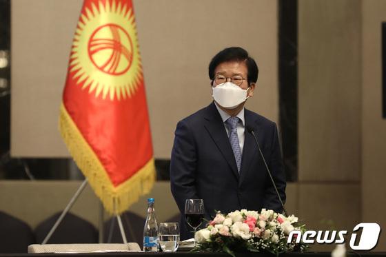 """박병석 """"키르기스스탄을 핵심 파트너로 육성… 양국 관계는 더욱 강해질 것"""""""