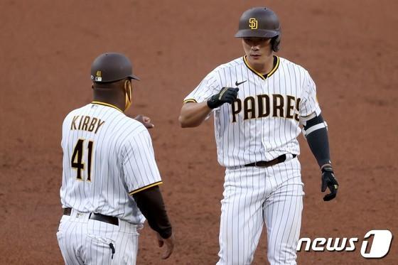 김하성 MLB 1 타점, 타점, 다 타점 … 타율 0.400 (총)