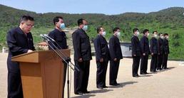 북한 평안북도 관개수로 건설…'물길통수식' 열려