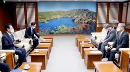 김영록 지사, 윤의준 한전공대 총장과 현안 논의