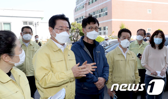 김영록 전남도지사, 여수 코로나 대응현장 방문