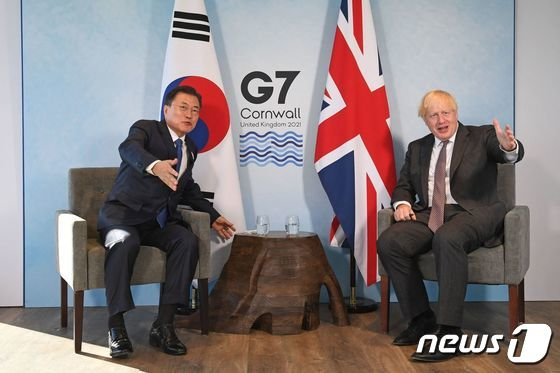 문재인 대통령, 보리스 존슨 영국 총리와 양자회담
