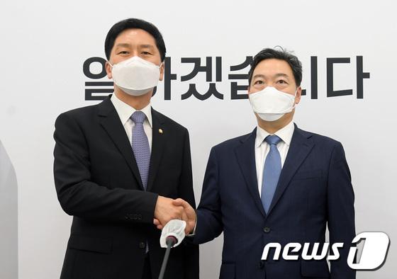 김기현 국민의힘 원내대표 만난 김오수 검찰총장