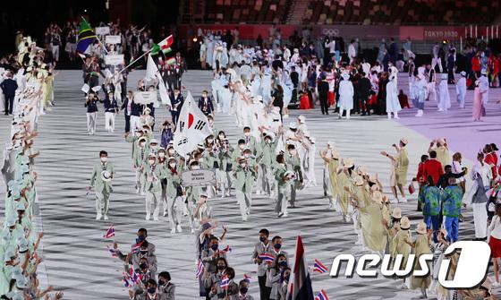 대한민국 '도쿄올림픽 개막식 입장'