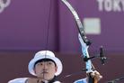 [올림픽] 안산, 사상 첫 양궁 3관왕 향해 순항… 개인전 16강 진출
