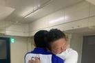 """[올림픽] """"경계인이었다""""…재일교포 3세 안창림과 최윤 부단장의 뜨거운 포옹"""
