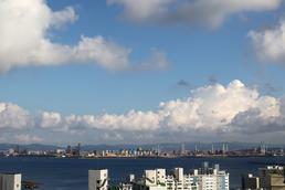 상쾌한 푸른 하늘