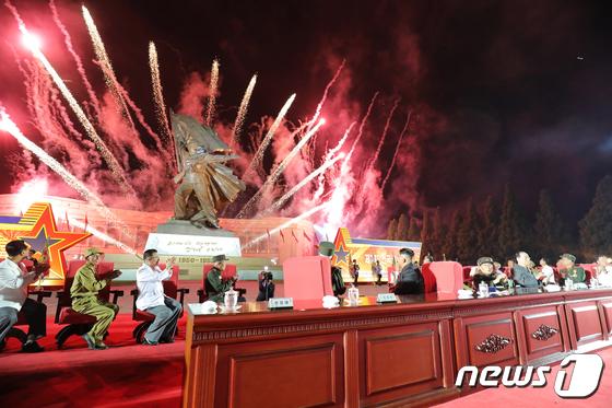 환하게 밝혀진 북한…김정은 참석한 제7차 전국노병대회