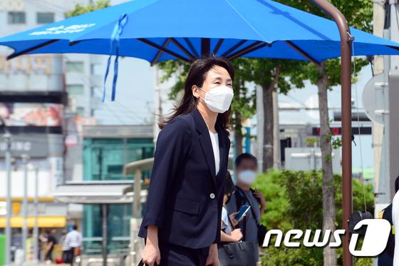 \'광주 방문한 이재명 경기도지사의 부인 김혜경씨\'
