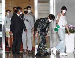 유엔총회 참석 위해 출국하는 BTS