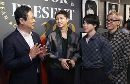 BTS와 대화하는 황희 장관