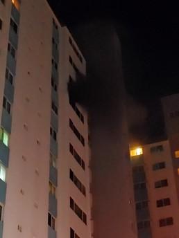 목포 산정동 한 아파트서 화재…20여명 대피