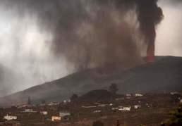[사진] 검은 화산재 기둥 치솟는 스페인 라팔마의 화산