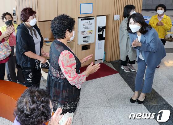 제주 해녀 만난  이재명 지사 부인 김혜경씨