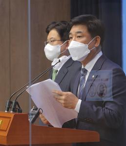 긴급 기자회견 나선 이재명 캠프 김병욱 의원