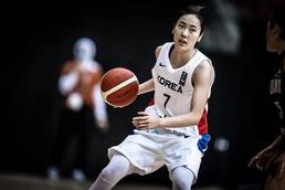 아시아컵 여자농구 드리블하는 박혜진