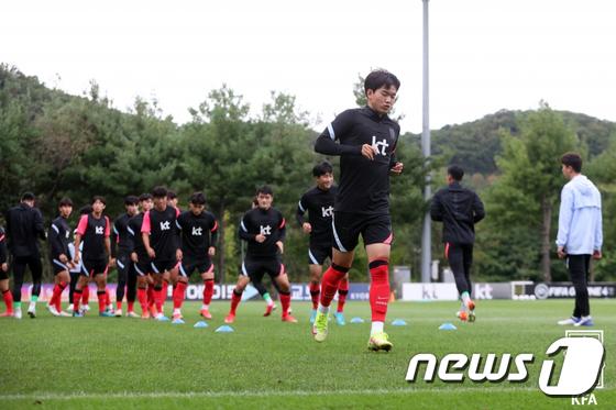 훈련하는 23세 이하(U-23) 축구 대표팀
