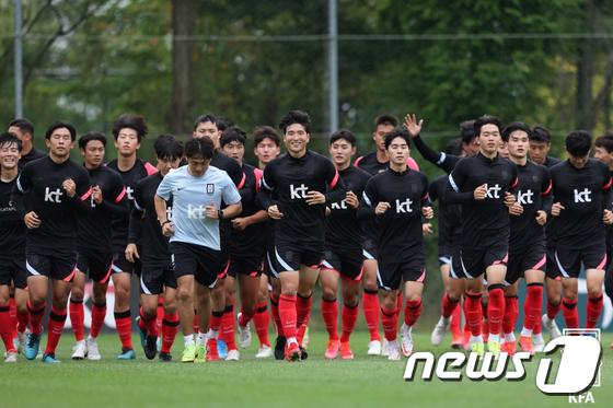 담금질하는 23세 이하(U-23) 축구 대표팀