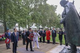 '임진강전투 70주년', 영국 한국전 참전비 참배